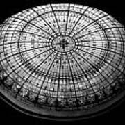 Stained Glass Dome - Bw Art Print
