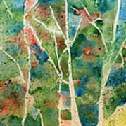 Stained Glass Forest In Spring Art Print