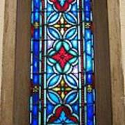 Stained Glass In Redeemer Lutheran Art Print