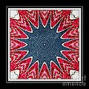 Stained Glass Lace - Kaleidoscope Art Print