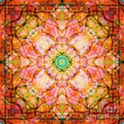 Stained Glass Mandala Art Print