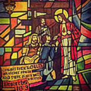 Stained Glass Proverbs 16 Verse 3 Art Print