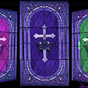 Stained Glass - Purple Art Print