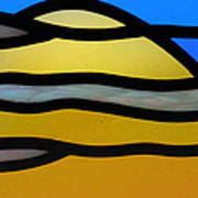 Stained Glass Scenery 3 Art Print