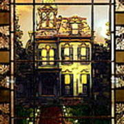 Stained Glass Template Victorian Twilight Art Print