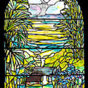 Stained Glass Tiffany Holy City Memorial Window Art Print