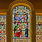Stained Glass Window Cathedral St Augustine Art Print by Christine Till