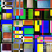 Stained Glass Window II Multi-coloured Abstract Art Print by Natalie Kinnear