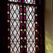 Stained Glass Window In Saint Paul's Episcopal Church-1882 In Tombstone-az Art Print