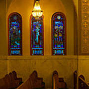 Stained Glass Windows At St Sophia Art Print