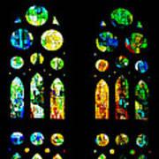 Stained Glass Windows - Sagrada Familia Barcelona Spain Art Print