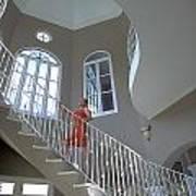 Staircase At Endless Summer Villa Art Print