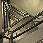 Stairing Up The Spinnaker Tower Art Print