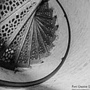 Stairs At The Fort Gratiot Light House Art Print