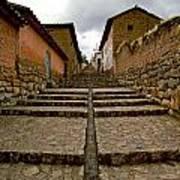 Stairs In Chinchero Peru Art Print