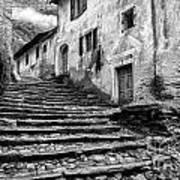 Stairs To Lavertezzo Art Print