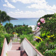 Stairs To Paradise Art Print by George Oze