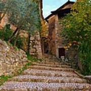 Stairs To The Village Art Print