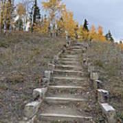 Stairway To Autumn Art Print