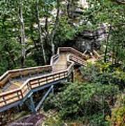 Stairway To Chimney Rock Art Print
