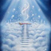 Stairway To Heaven Art Print by Nickie Bradley
