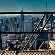 Stairways On Top Of Rockefeller Center Art Print by Amy Cicconi