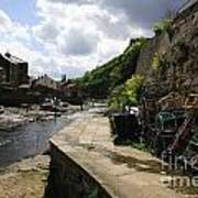 Staithes Harbour Art Print