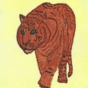 Stalking Tiger Art Print