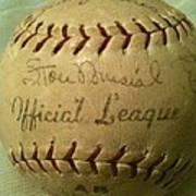 Stan Musial Autograph Baseball Art Print