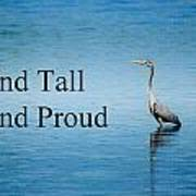 Stand Tall Stand Proud Art Print