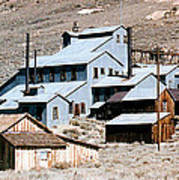 Standard Mill At Bodie Panorama Art Print by Barbara Snyder