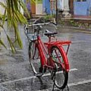 Standing In The Rain Penang Art Print