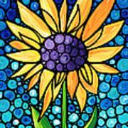 Standing Tall - Sunflower Art By Sharon Cummings Art Print