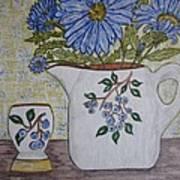 Stangl Blueberry Pottery Art Print