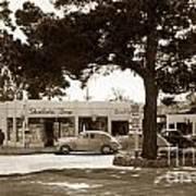 Stanifords Drug Store Ocean Ave.cor San Carlos Carmel Circa 1941 Art Print