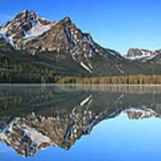 Stanley Lake Sawtooth Mountains Art Print