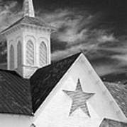 Star Barn Star Art Print