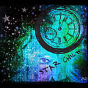 Star Child - Time To Go Home Art Print