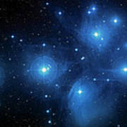 Star Cluster Pleiades Seven Sisters Art Print by Jennifer Rondinelli Reilly - Fine Art Photography