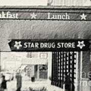 Star Drug Store Marquee Art Print