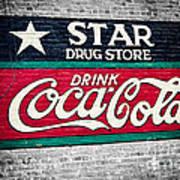 Star Drug Store Wall Sign Art Print