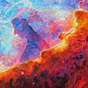 Star Dust Angel Art Print by Julie Turner