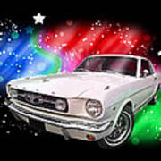 Star Of The Show - 66 Mustang Art Print