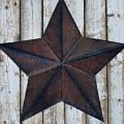 Star On Barn Wall Art Print