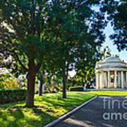 Star Over The Mausoleum - Henry And Arabella Huntington Overlooks The Gardens. Art Print