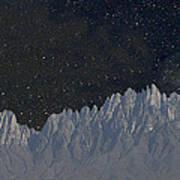 Star Shine Organ Mountains Art Print