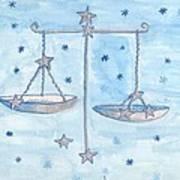 Star Sign Libra Art Print