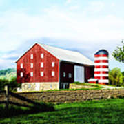 Star Spangled Farm Art Print