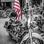 Star Spangled Harley Art Print