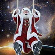 Santa's Star Swing Art Print